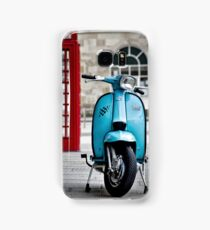 Italian Light Blue Lambretta GP Scooter Samsung Galaxy Case/Skin