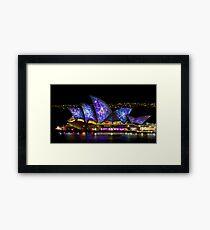 Galactic Sails - Sydney Vivid Festival - Australia Framed Print