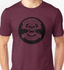 Live Freud, Die Jung (Crossbones) T-Shirt