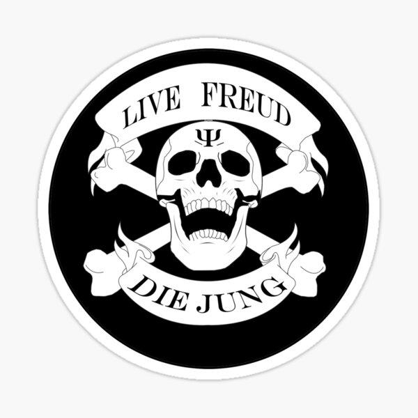 Live Freud, Die Jung (Crossbones) Sticker