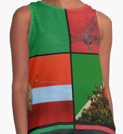 Urban Nature Collage Contrast Tank