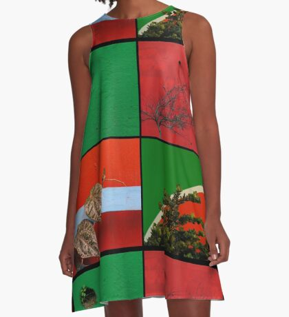 Urban Nature Collage A-Line Dress