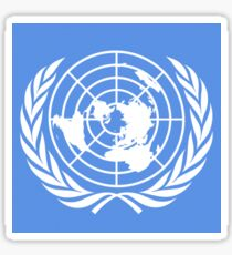 UN logo Sticker