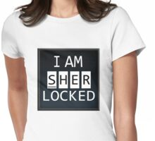 Sherlocked - PHONE DISPLAY Womens Fitted T-Shirt