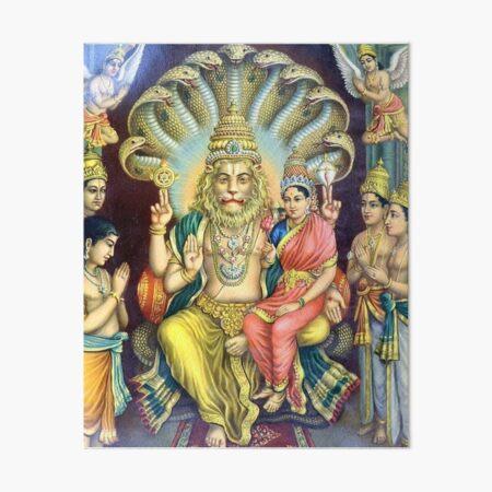 Sri Sri Lakshmi Nrisimha Art Board Print