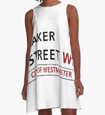 Baker Street Sign A-Line Dress