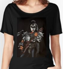 Gene Simmons of Kiss Painting Women's Relaxed Fit T-Shirt
