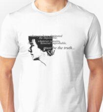Sherlock: Must be the Truth Unisex T-Shirt