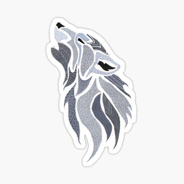Howling Grey wolf Sticker