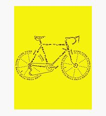 Bike in Words Photographic Print