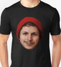 Michael Cera's Face in a Beanie Unisex T-Shirt