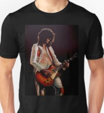 Jimmy Page In Led Zeppelin Painting T-Shirt
