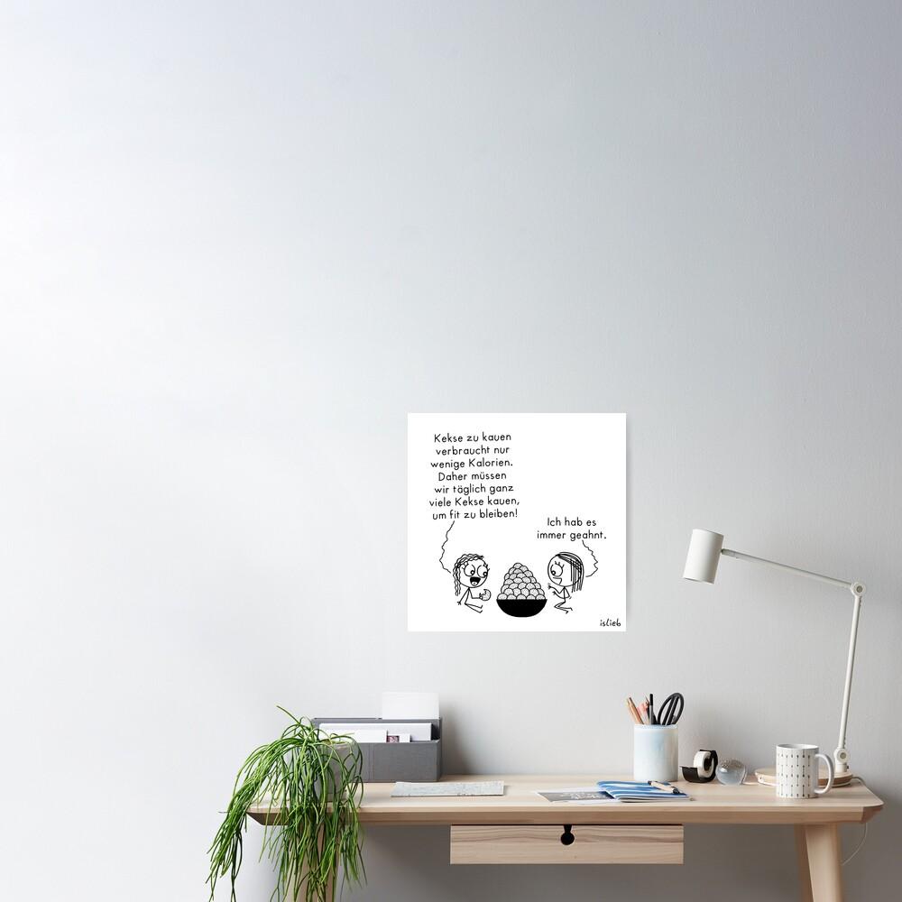 Kekse kauen Poster