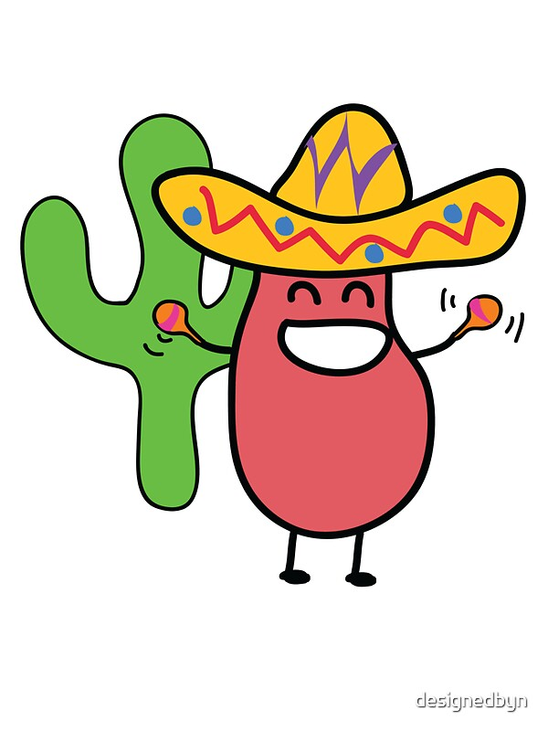 Cartoon Characters Mexican : Quot little mexican jumping bean cute kids cartoon character