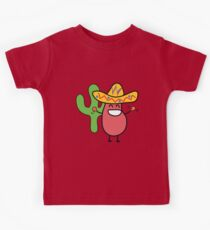 Little Mexican Jumping Bean - Cute Kids Cartoon Character Kinder T-Shirt