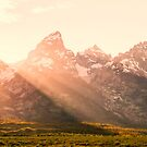 Mountains and Sun Rays by KellyHeaton