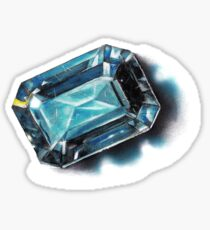 CRYSTAL BLUE GEMSTONE - DAVY OLDENBURG Sticker