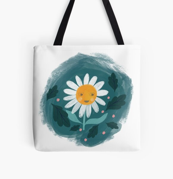 daisy illustration All Over Print Tote Bag