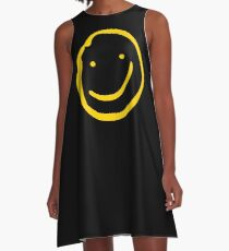 Smile if You're Bored A-Line Dress