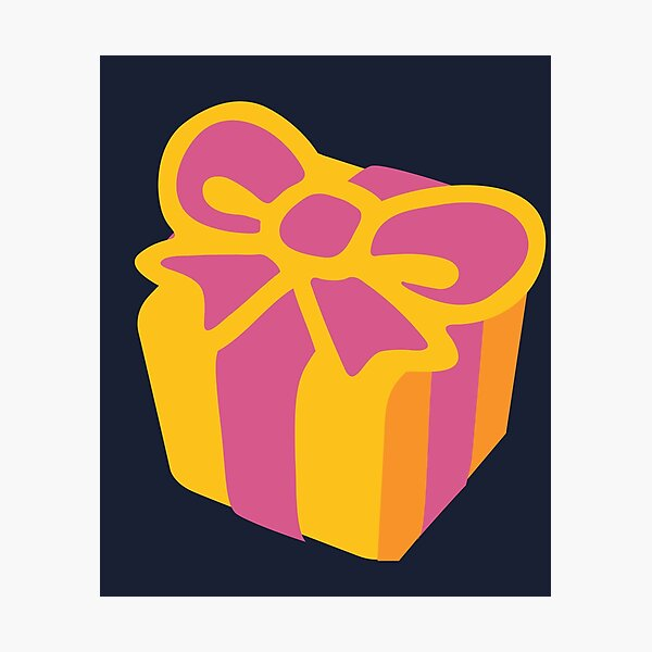 Wrapped Gift Birthday Present Gift Box Photographic Print