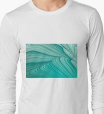 Folded Blue Green Abstract T-Shirt