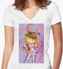 Bunnie Rabbot on Sonic Boom: Southern Style Women's Fitted V-Neck T-Shirt
