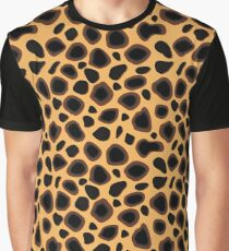 Spotted Cheetah Camouflage Pattern Graphic T-Shirt