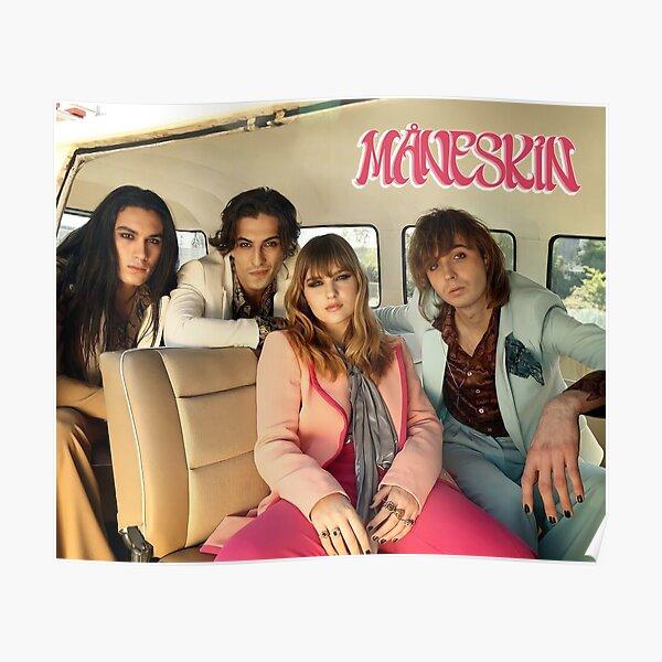 Maneskin band  in the car poster Måneskin Poster