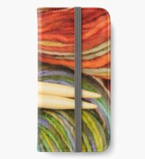 yarn and knitting needles iPhone Wallet/Case/Skin