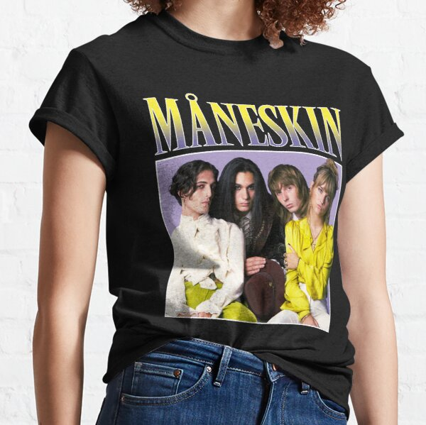 Maneskin Måneskin - Winners of Eurovision Song Contest 2021 Italy Zitti E Buoni Retro Vintage Classic T-Shirt