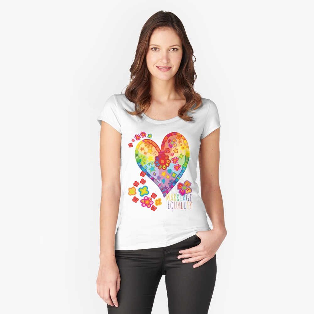 Marriage Equality - All You Need is Love Fitted Scoop T-Shirt