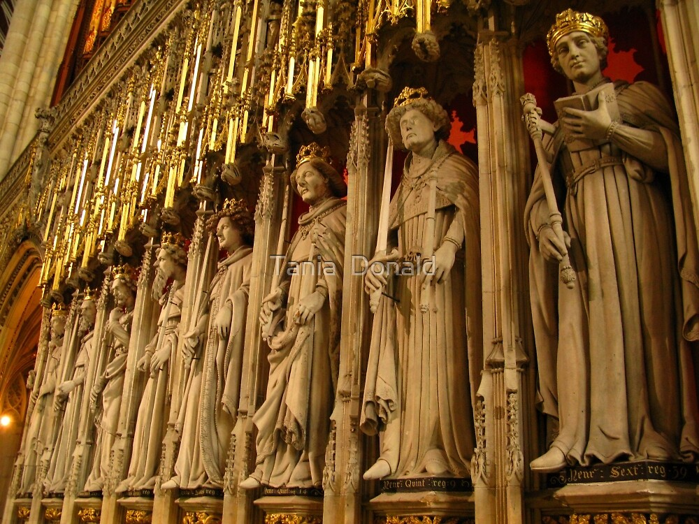 Choir Screen, York Minster by Tania  Donald