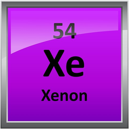 Xenon periodic table element symbol posters by sciencenotes redbubble xenon periodic table element symbol by sciencenotes urtaz Image collections