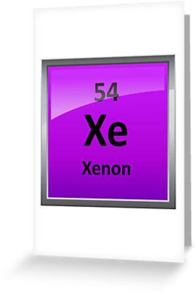 Tarjetas de felicitacin smbolo de elemento de tabla peridica de smbolo de elemento de tabla peridica de xenn de sciencenotes urtaz Images