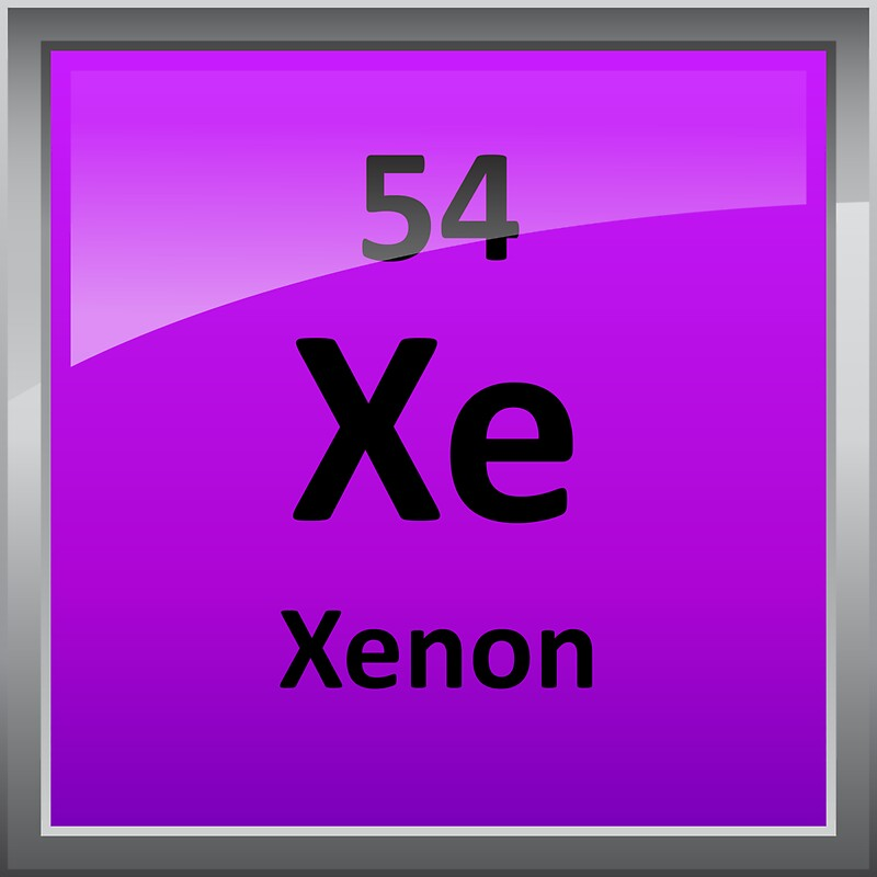 Xenon periodic table element symbol stickers by sciencenotes xenon periodic table element symbol by sciencenotes urtaz Images