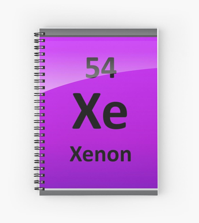 Cuadernos de espiral smbolo de elemento de tabla peridica de smbolo de elemento de tabla peridica de xenn de sciencenotes urtaz Gallery
