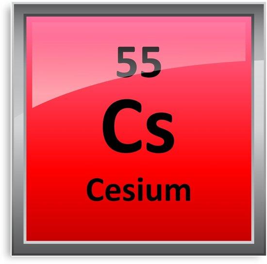 Cesium periodic table element symbol canvas prints by sciencenotes cesium periodic table element symbol by sciencenotes urtaz Gallery