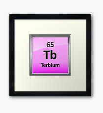 Terbium Periodic Table Element Symbol Framed Print