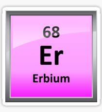 Erbium Periodic Table Element Symbol Sticker