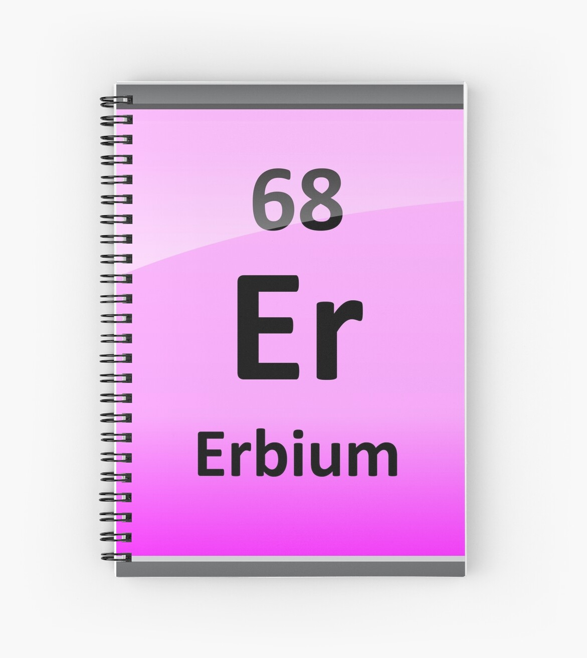 Erbium Periodic Table Element Symbol Spiral Notebooks By