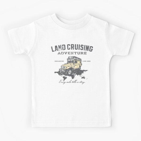 Every Mile Tells a Story - grey print Kids T-Shirt