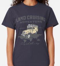 Camiseta clásica Cada milla cuenta una historia - impresión gris
