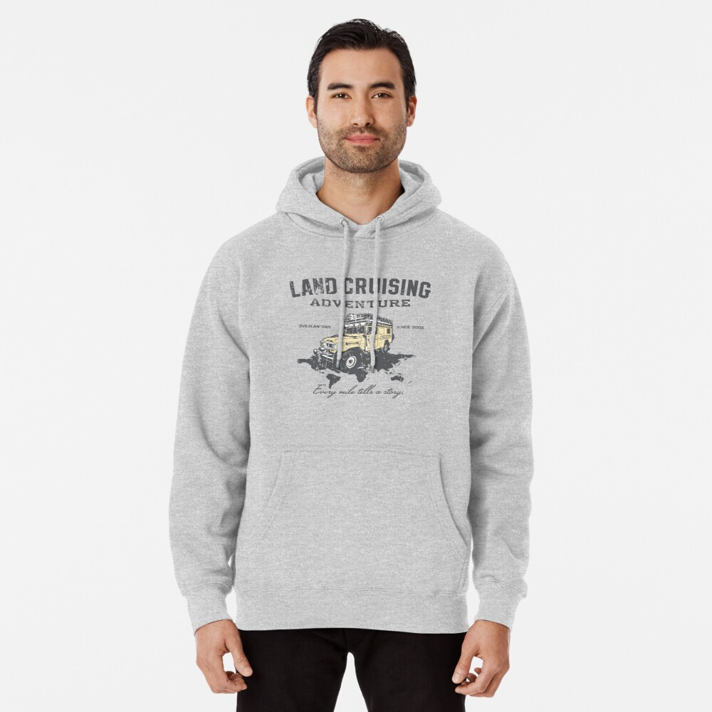 Every Mile Tells a Story - grey print Pullover Hoodie