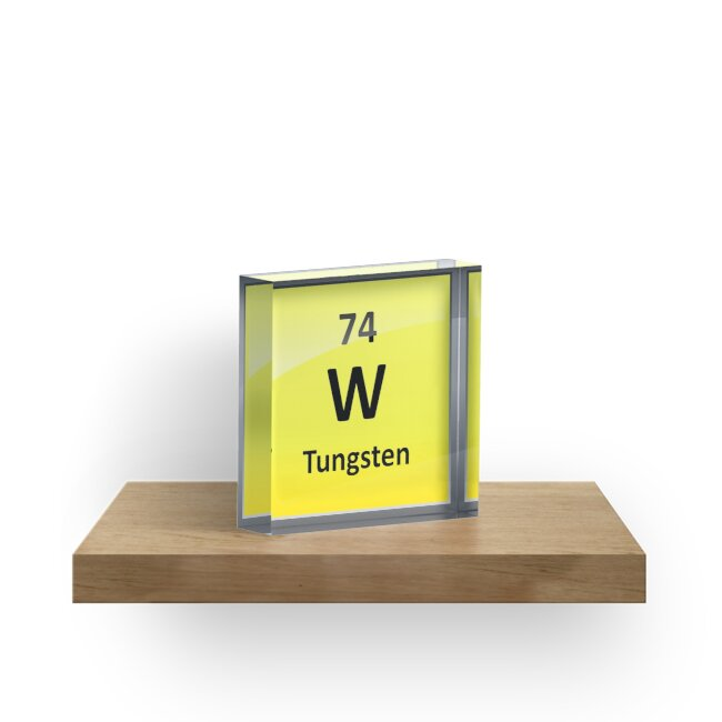 Tungsten Periodic Table Element Symbol Acrylic Blocks By