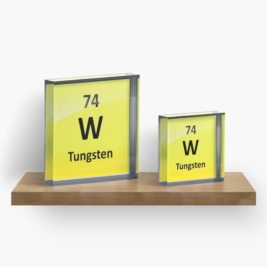 Tungsten periodic table element symbol acrylic blocks by tungsten periodic table element symbol urtaz Gallery
