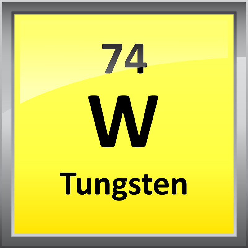 Tungsten Periodic Table Element Symbol Stickers By Sciencenotes