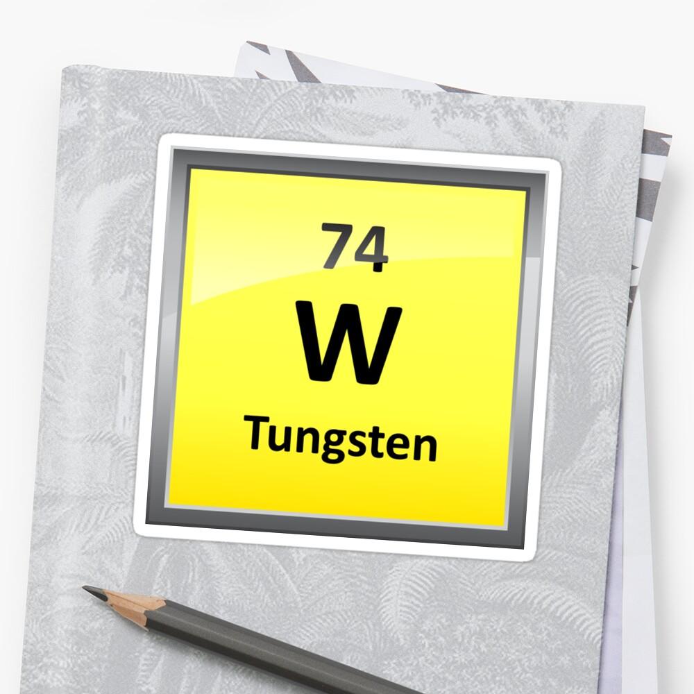 Tungsten periodic table element symbol stickers by sciencenotes tungsten periodic table element symbol urtaz Image collections