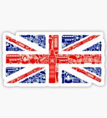 Wahrzeichen und Flagge A Sticker