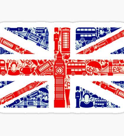 Landmark and Flag A Sticker