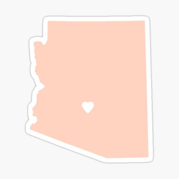 Arizona Peach Sticker